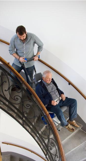 Engelli merdiven taşıma ve iletim sistemi