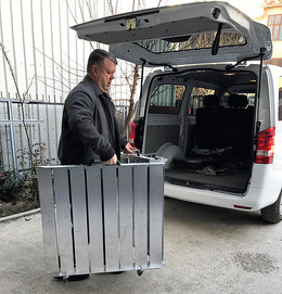 portable van ramp in use
