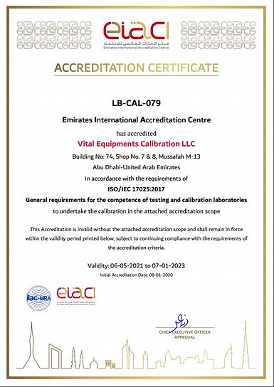 Vital Equipments Calibration LLC
