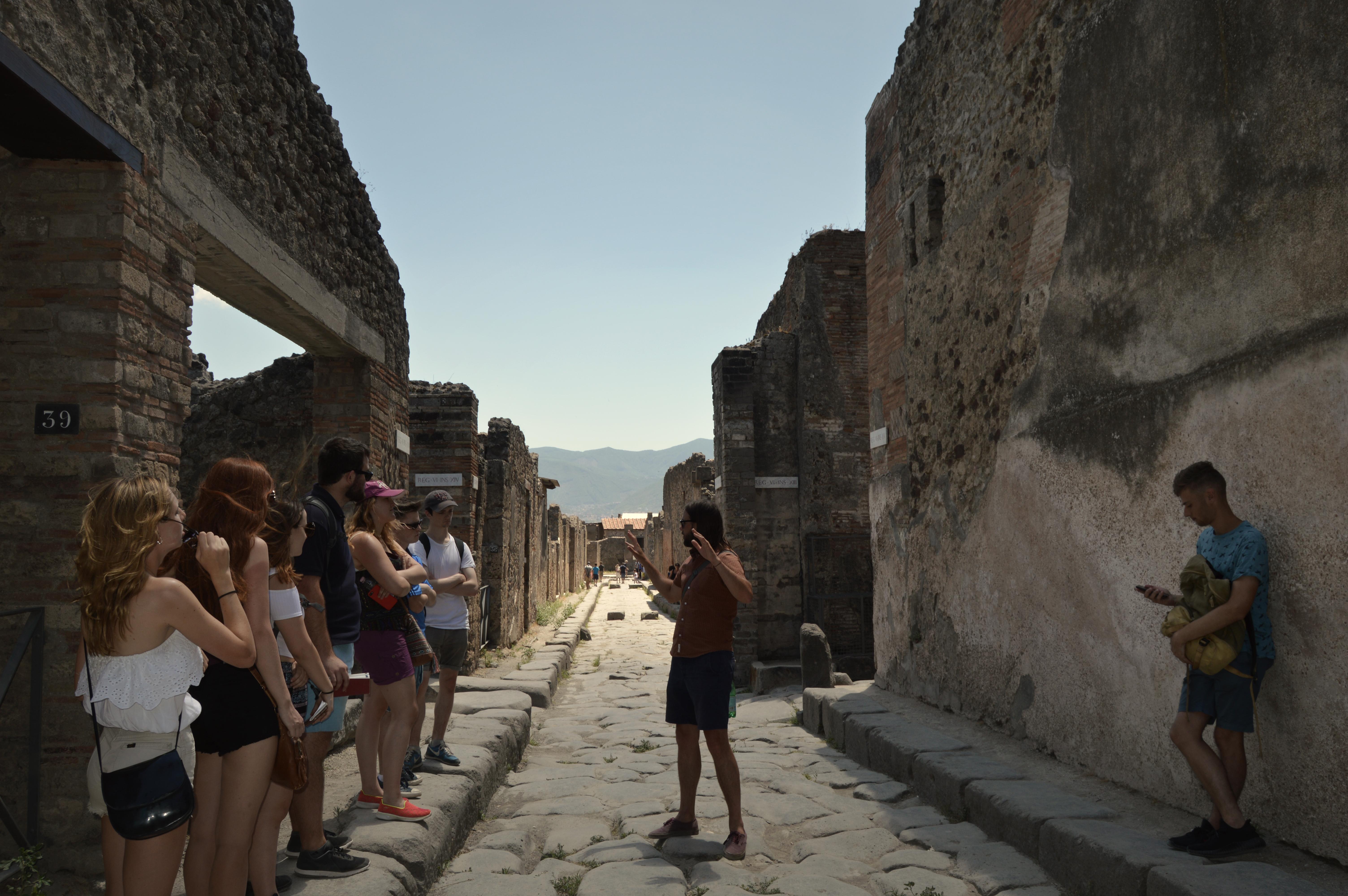 Lecture at Pompeii