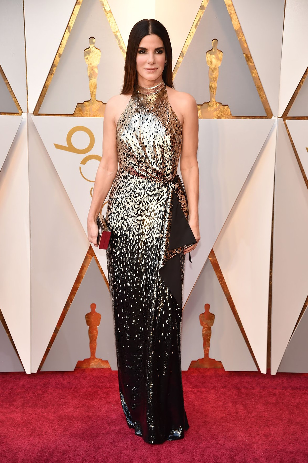 Sandra Bullock wearing Louis Vuitton Oscars 2018