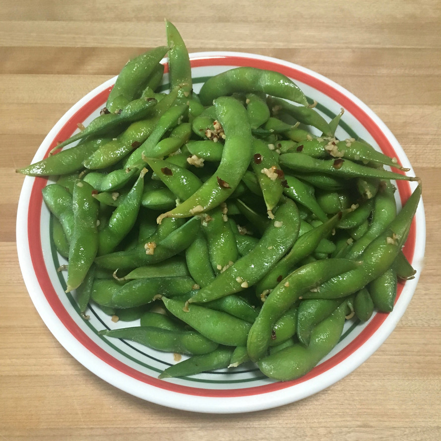 Spicy Garlic Lime Edamame