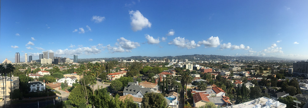 panoramic view the hills Los Angeles