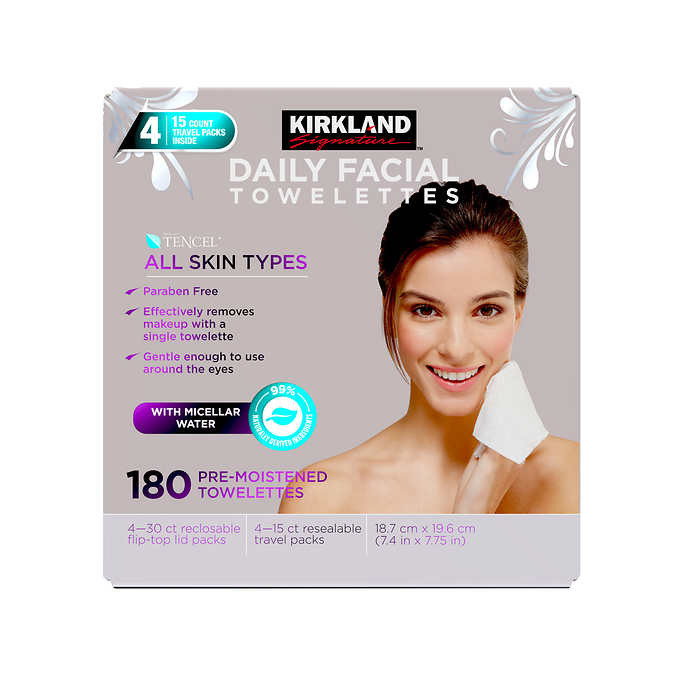 costco makeup wipes kirkland daily facial towelettes
