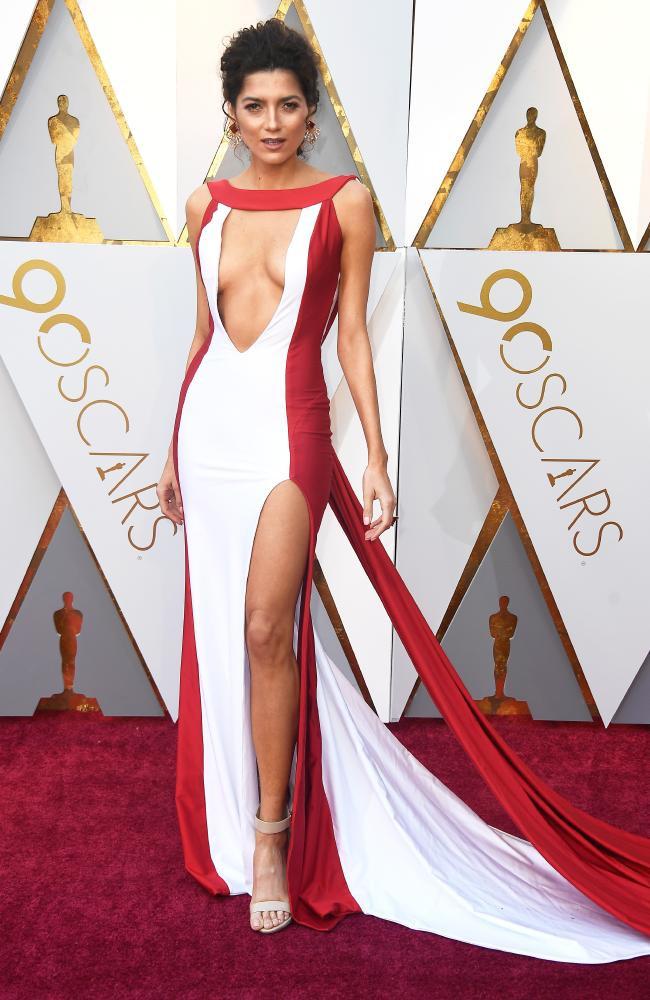 Blanca Bianco wearing Atria Couture Oscars 2018