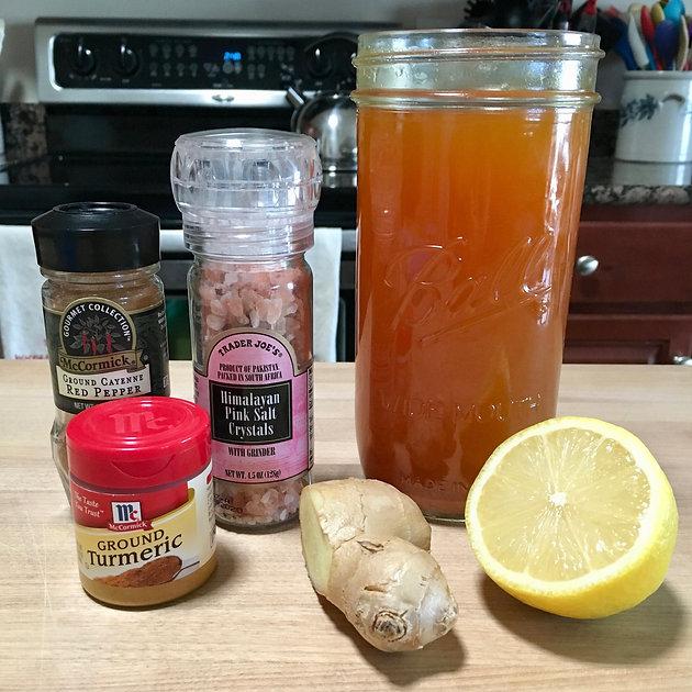 Ginger, Lemon, Turmeric, Cayenne Detox Tea--The Efficient Way