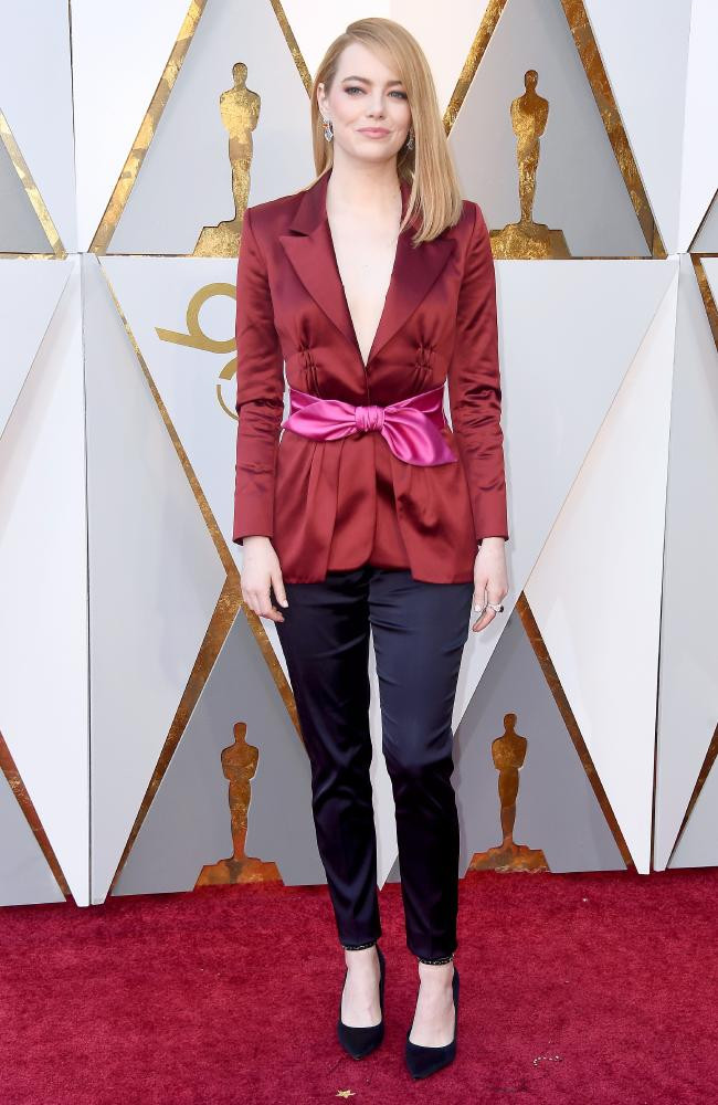 Emma Stone wearing Louis Vuitton Oscars 2018
