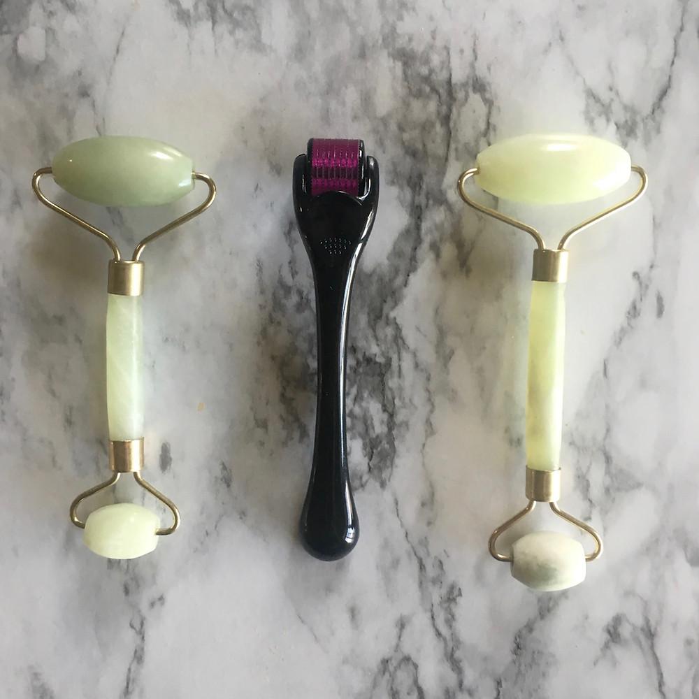 derma-roller micro-needling, micro-derma jade roller