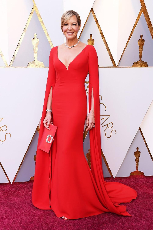 Allison Janney wearing Reem Akra Oscars 2018