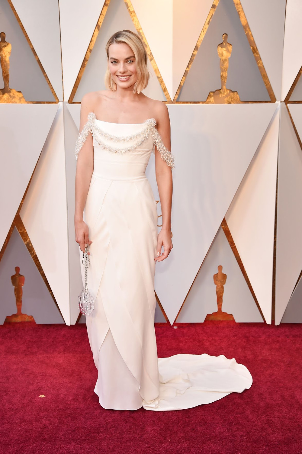 Margot Robbie wearing Chanel Oscars 2018