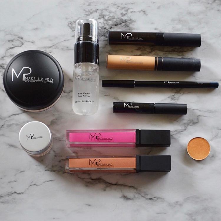 make-up pro lip gloss, powder, primer, concealer, eye shadow, eye liner,