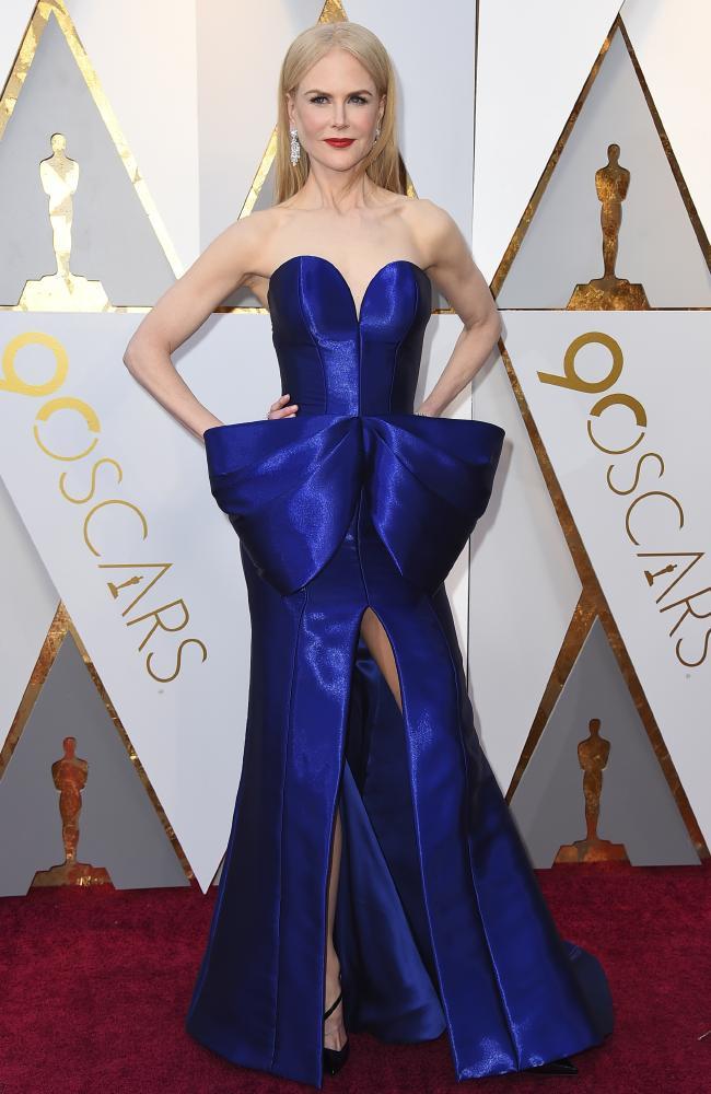 Nicole Kidman wearing Armani Prive Oscars 2018