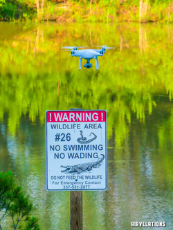 Drone with Danger Sign_Copyright