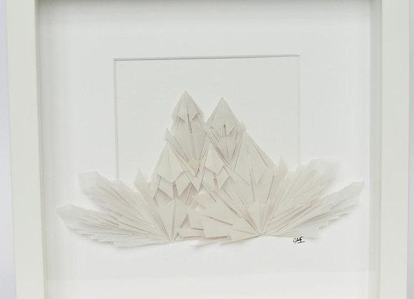 "Cadre Mural Origami ""ARMURE DE GLACE"""