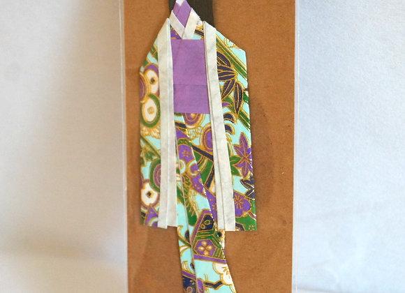 Marque-page japonais Geisha obi violet