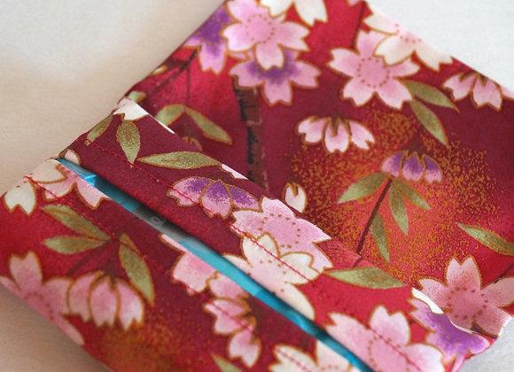 Porte-mouchoirs rouge tissu japonais