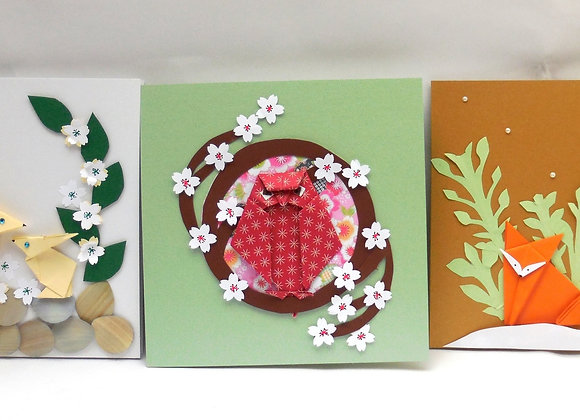 ATELIER CARTES ORIGAMI MA FORET ENCHANTEE