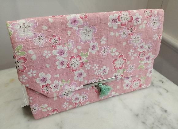 Pochette AKI en tissu japonais Sakura rose