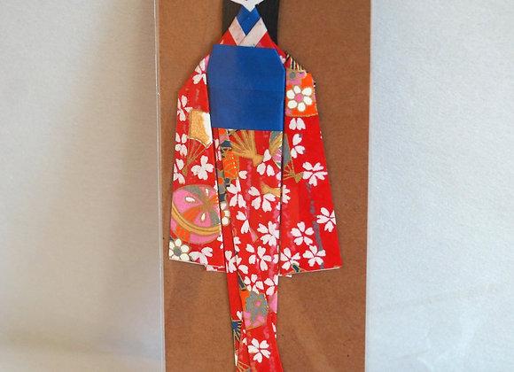 Marque-page japonais Geisha rouge