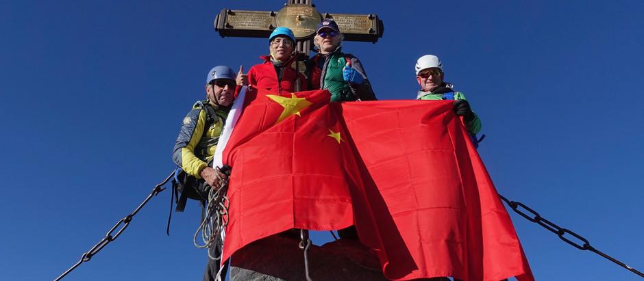 Chinesischer Botschafter am Glockner