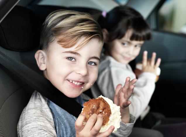 Børn i Bil
