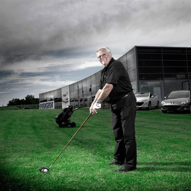 Golfspiller ved Virksomhed