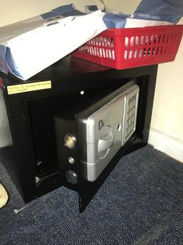 Small domestic safe opened non destructi