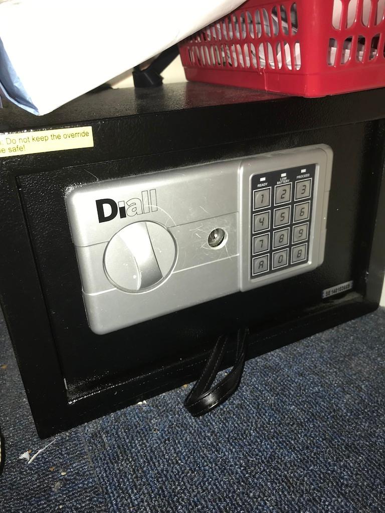 Small domestic safe locked with no keys