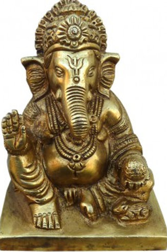 Ganesh assis Bronze