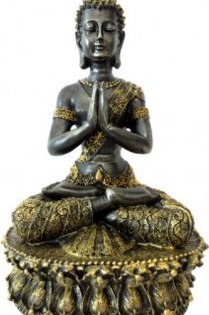 Bouddha du tibet méditation noir & or