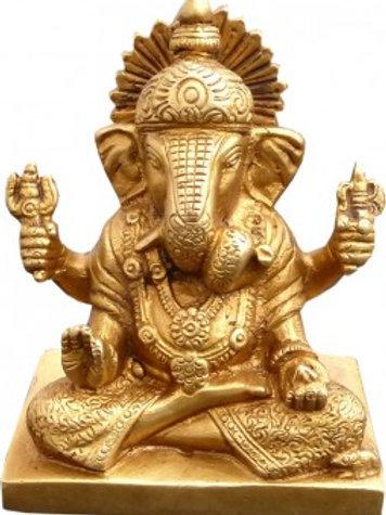 Ganesh méditation Bronze