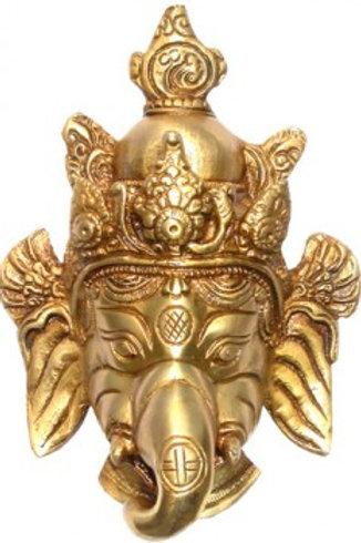 tête de ganesh en bronze