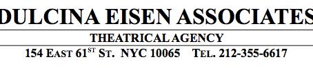 Signed with Dulcina Eisen Associates!