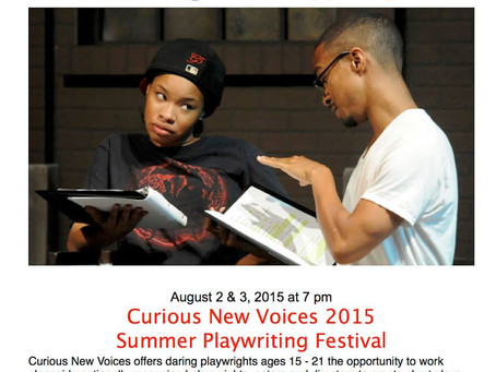 Performing in Curious Theater Company's Curious New Voices Festival,Denver,August 2015