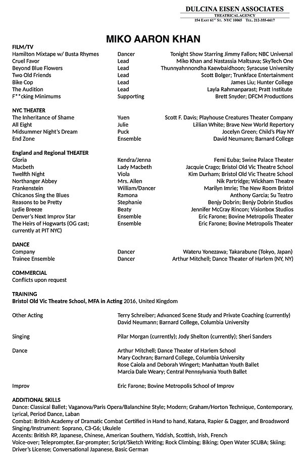 Miko Aaron Khan Acting Resume for 12.5_e
