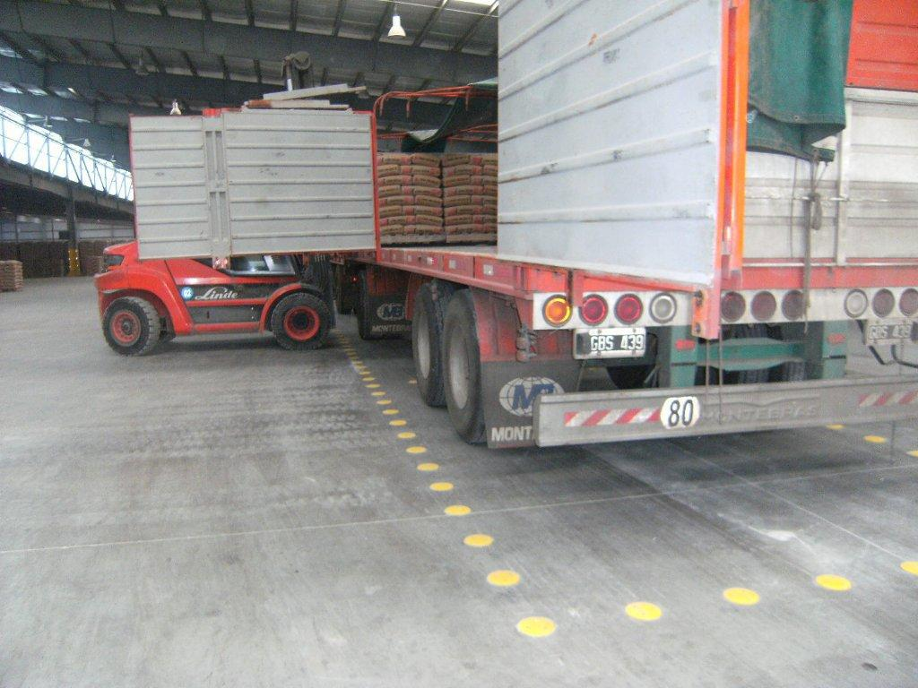 posicion de carga logistica Loma Negra