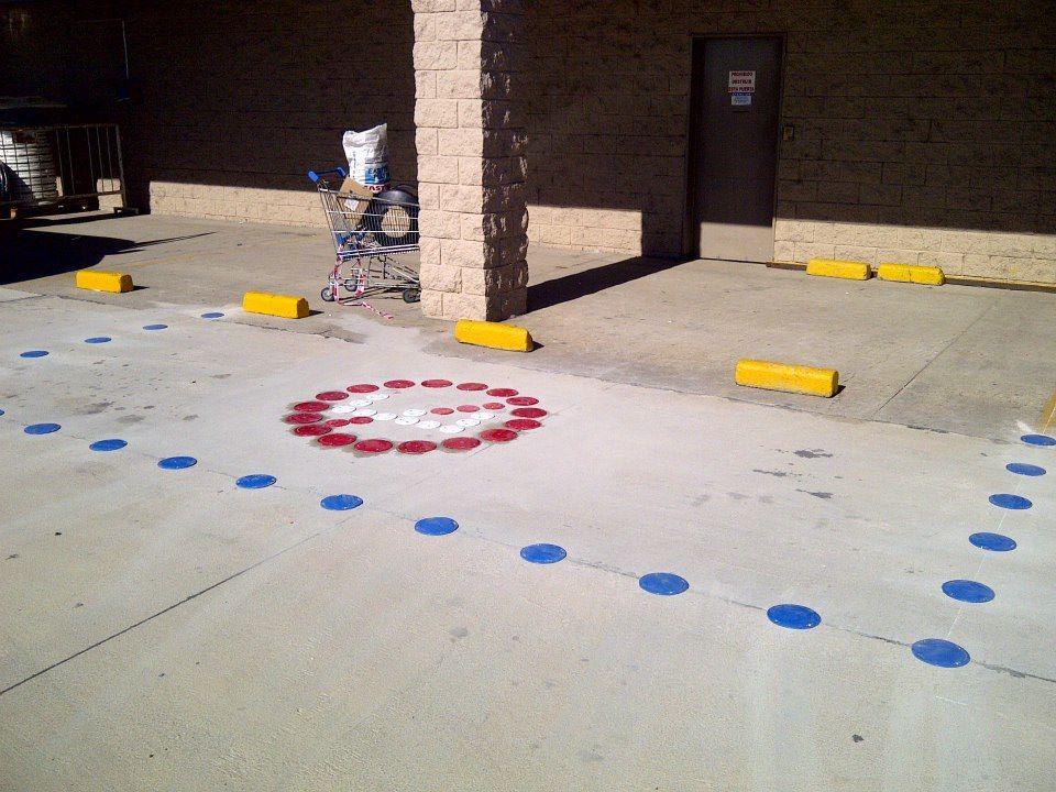 Demarcación de simbolo Prohibido estacionar