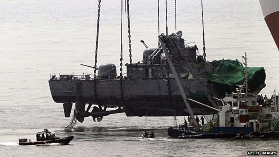 Die Cheonan sank am 26.03.2010. Dabei starben 46 Matrosen.