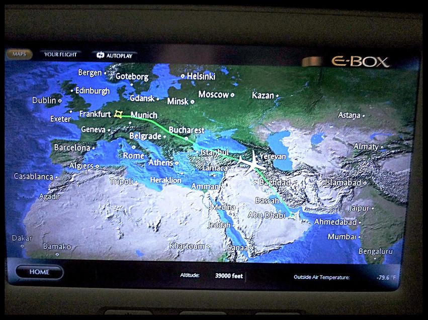 Frankfurt to Abu Dhabi