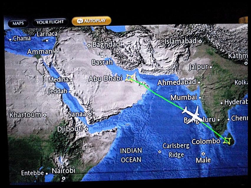 Abu Dhabi to Sri Lanka