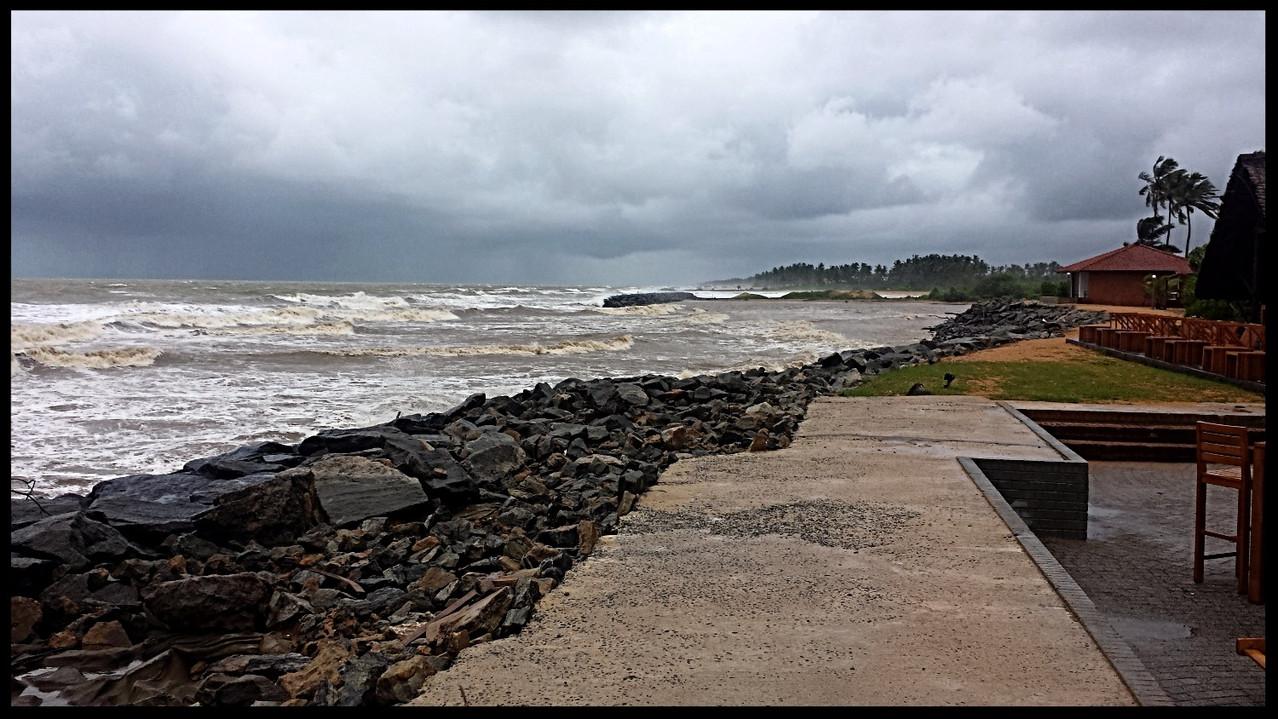 The sea at monsoon season