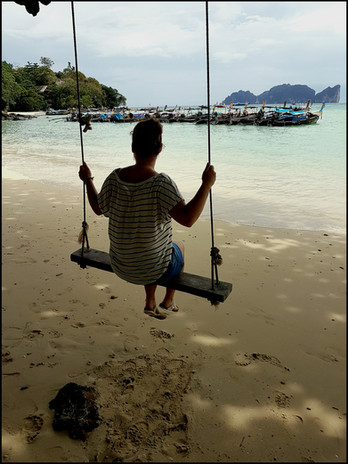 7th Day: Phi Phi Island arrival & hunted by monkeys