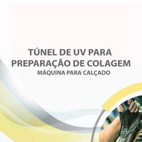 Túnel de UV para preparação de colagem