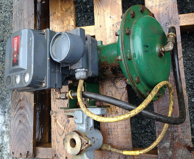 FISHER  1in  V200 CLASS 150-600 DVC6020 1052 ACTUATED VALVE