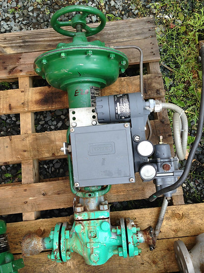 FISHER 1in TYPE ES CLASS 150 657 ACTUATED GLOBE VALVE