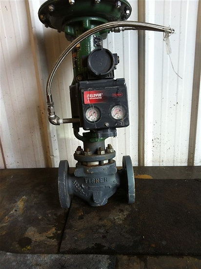 FISHER 1.5in Type ET CL300/740 Actuated Globe Valve