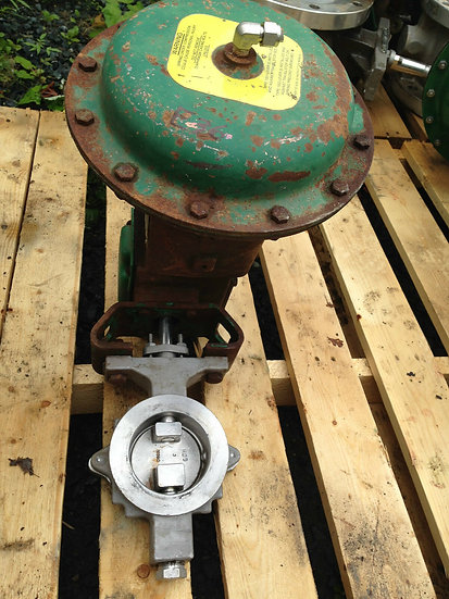 FISHER 3in CLASS 150 1065 ACTUATED BUTTERFLY VALVE