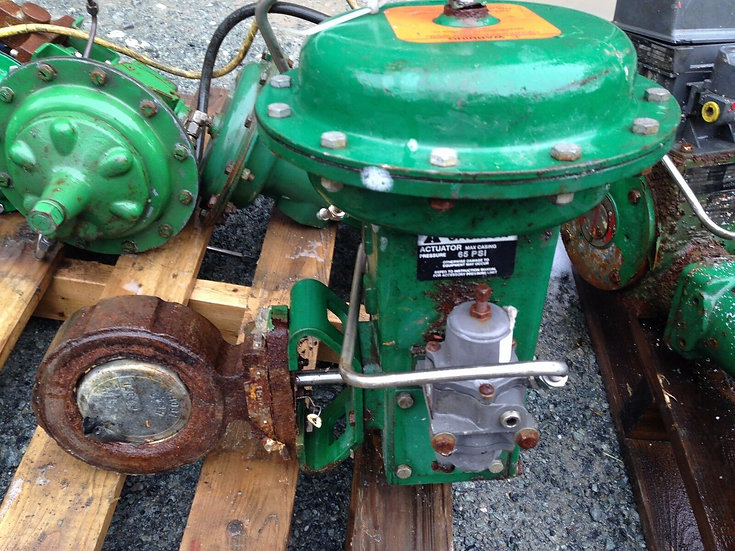 FISHER 4 INCH BUTTERFLY CLASS 150 1051 ACTUATED VALVE