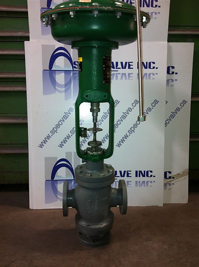 Fisher 1.5in class 125FF Type 657 Actuated YY Plug Valve