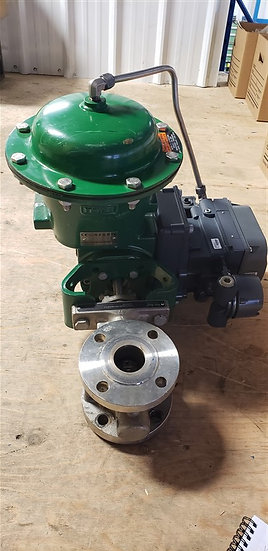 Fisher 1.5in V150 Actuated V-Ball Valve
